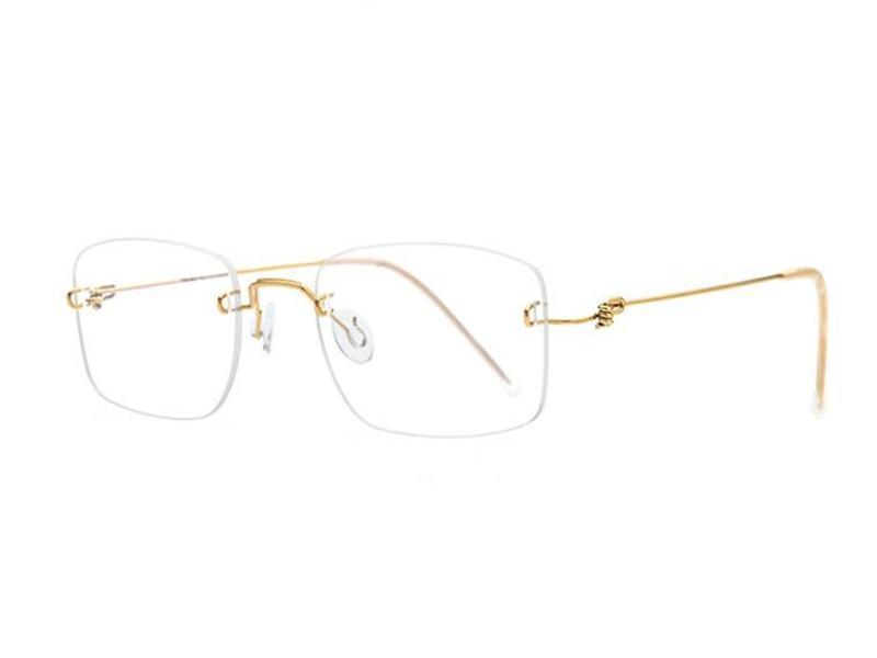 Lunettes de soleil à la mode Cadres Lunettes d'alliage de titane Holeux Vintage Unisexe Optique Optique Eyewear Clear Lens Prescription Myopie Lunettes de vue