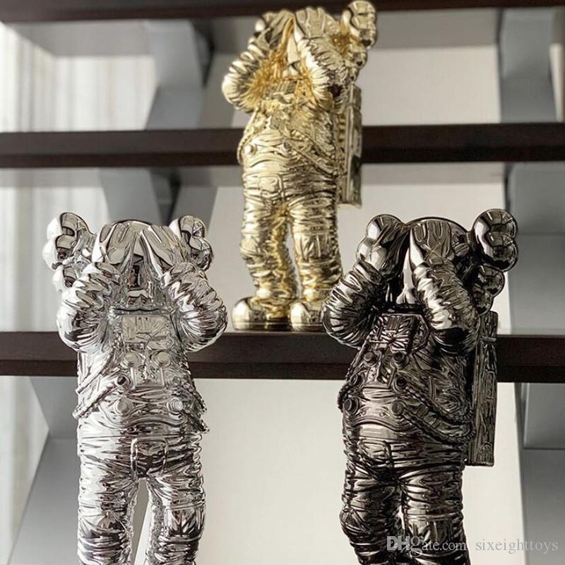 Yeni 30 CM 2.5 KG Originalfake K A W S Tatil Orijinal Kutusu Ile Tatil Spaceman Companion Figürü Action Figure Model Süslemeleri Çocuklar Hediye
