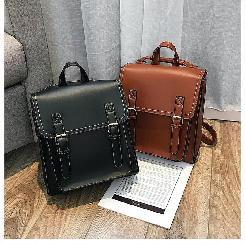 Outdoor Bags 2021 Women's Backpack Briefcase High Quality PU Bag Fashion European And American Style