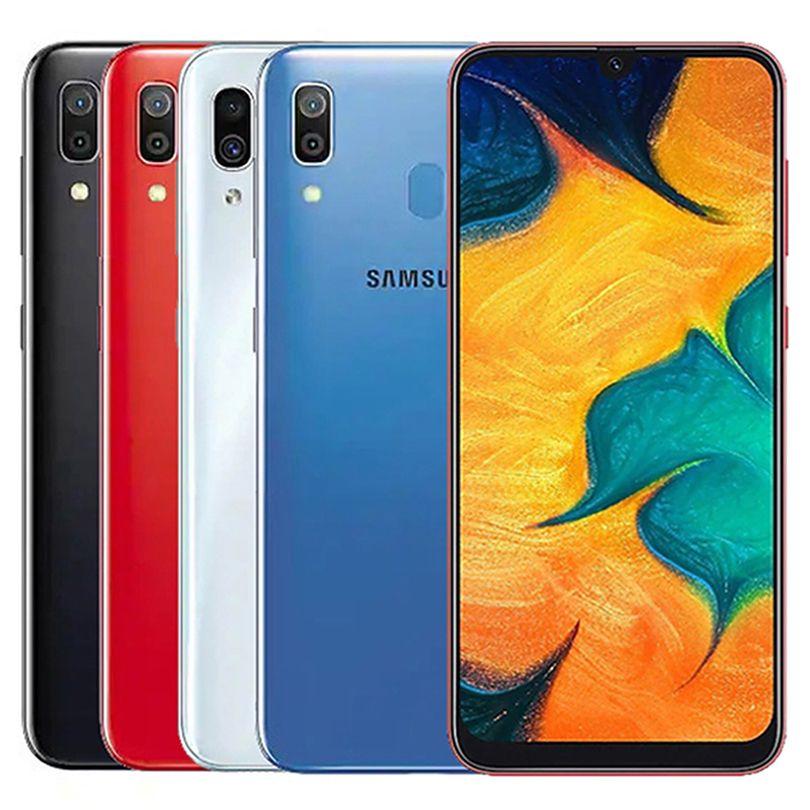 Original Refurbished Samsung Galaxy A30 A305F/DS Dual SIM 6.4 inch Octa Core 4GB RAM 64GB ROM 16MP Unlocked 4G LTE Smart Cell Phone Free DHL 5pcs