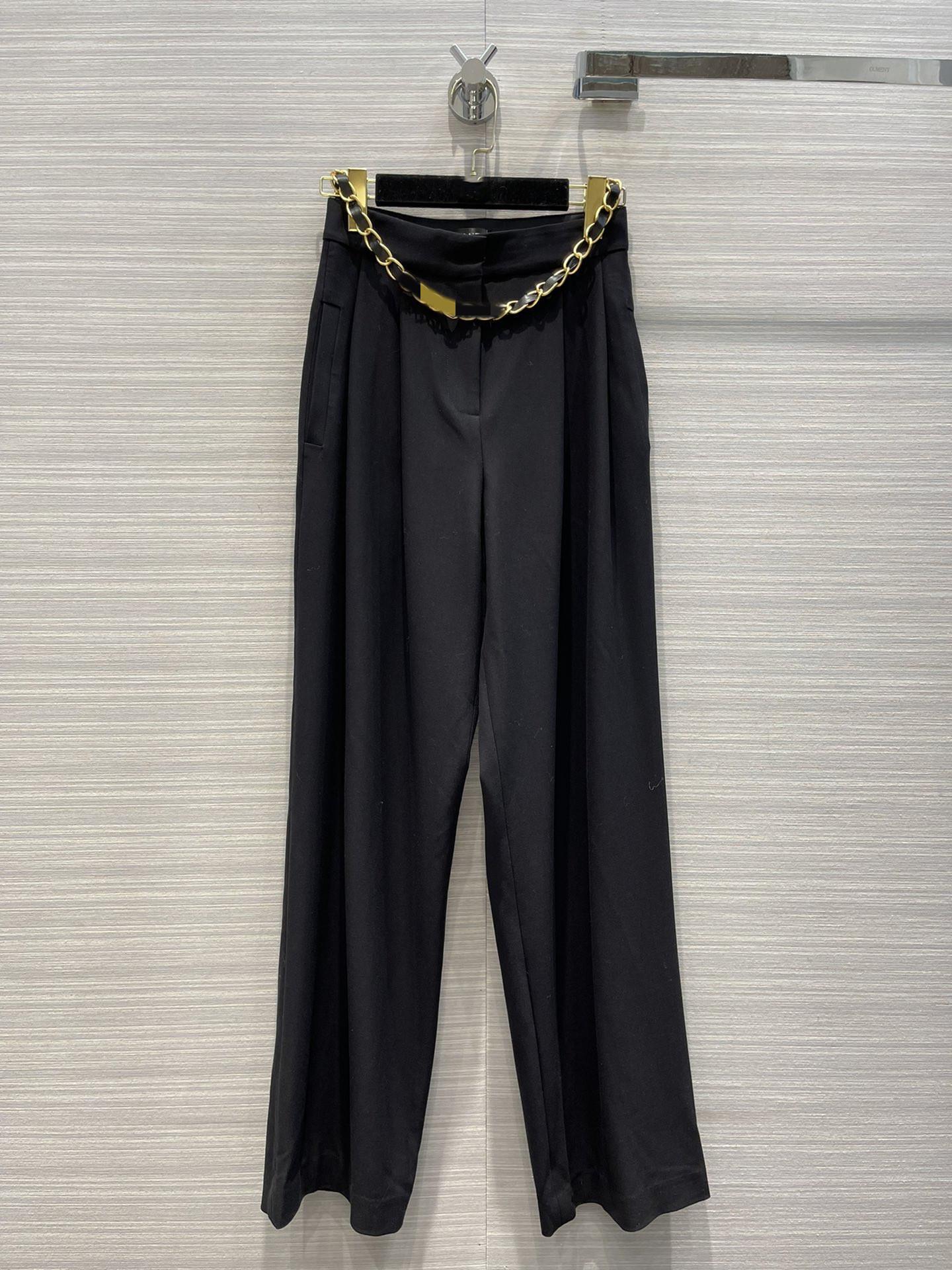 Milan Pist Pantolon 2021 Sonbahar Düz Baskı Moda Tasarımcısı Pantolon Marka Aynı Stil Pantolon kadın 0822-6