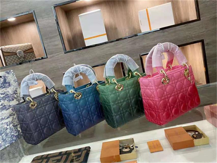 Bolsas de diseñador casual 2021 damas de calidad de lujo bolso de hombro bolso de mano bolsos de mensajero billetera de gradiente clásico estilo de cuatro compartimentos de cuatro compartimientos múltiple