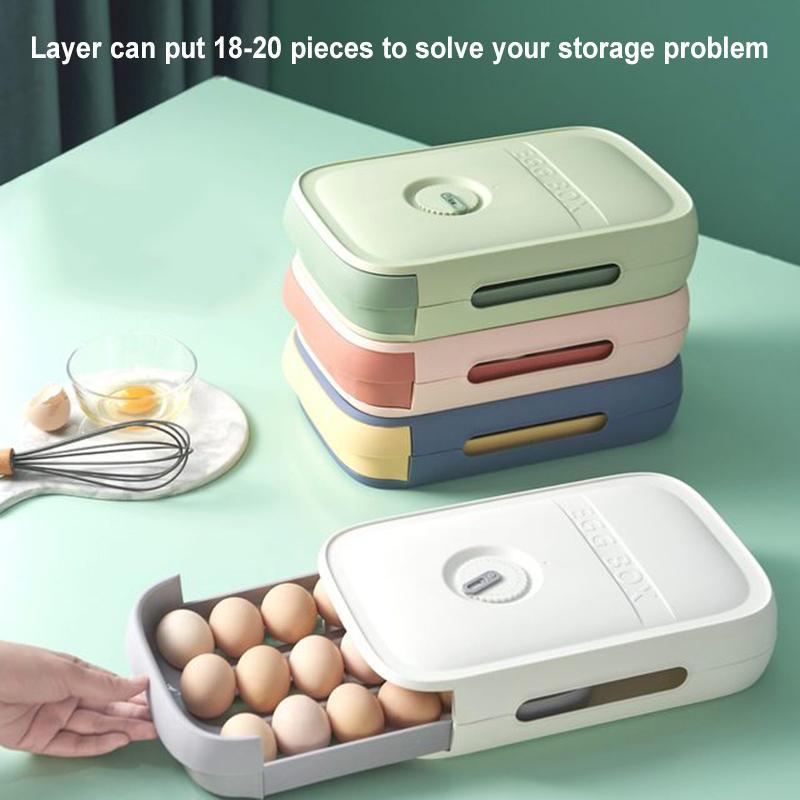زجاجات التخزين الجرار البيض حاوية المنزلية الملونة متعددة الطبقات مربع الطازجة للمطبخ الثلاجة organizat