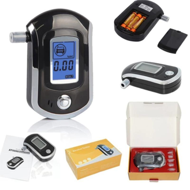 알코올 테스터 디지털 탐지기 Boundalyzer Alcotester 백라이트 박스 및 수동 무료 알콜 중독 테스트