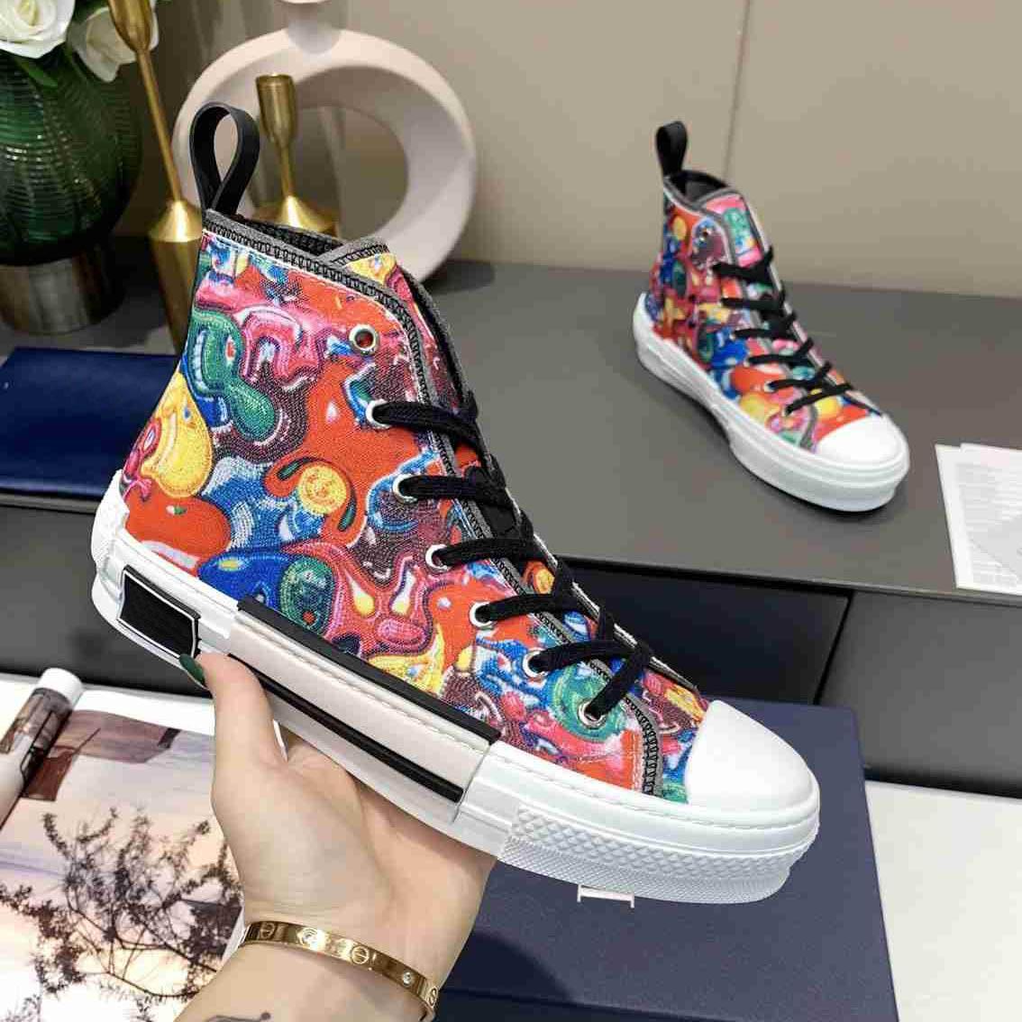 2021 AAAAA + Limited Edition Пользовательские напечатанные холст обувь мода универсальная высокая и низкая обувь с оригинальной упаковкой 35-45 Все цвета