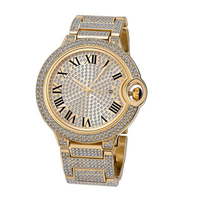 Relógios de pulso de aço inoxidável mulheres relógios diamante cristal ouro senhoras relógio feminino relógio zegarek damski montre femme