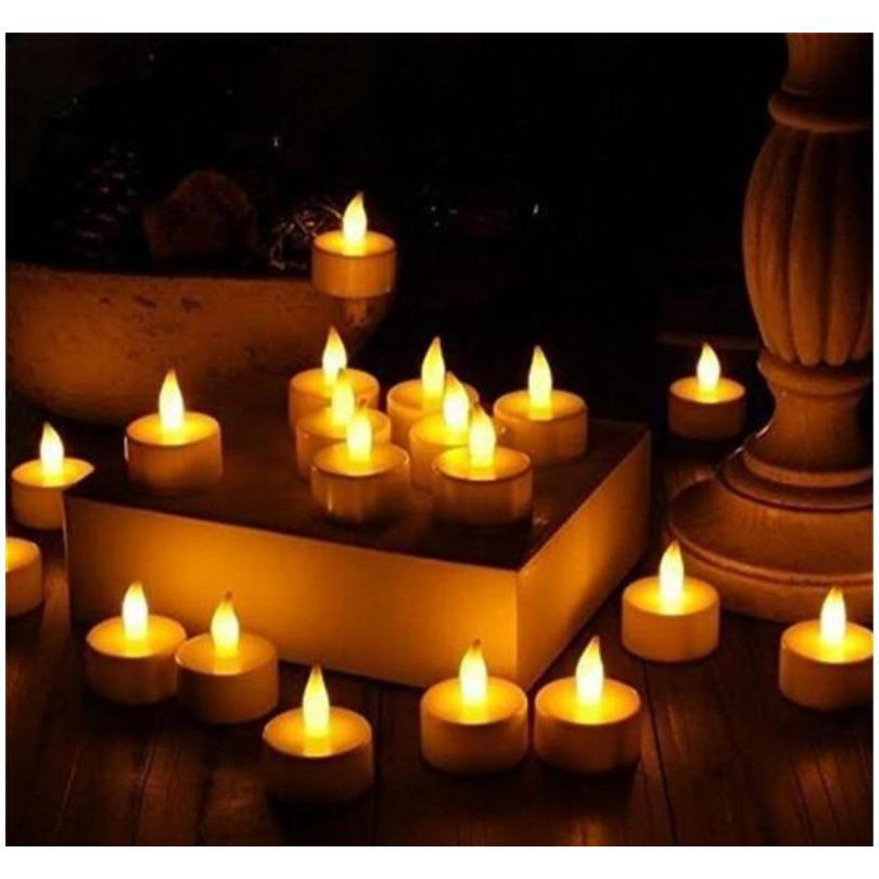 Candles Décor Home & Garden Drop Delivery 2021 Led Lights Flameless Votive Tealights Flickering Bulb Light Small Electric Fake Tea Candle Rea