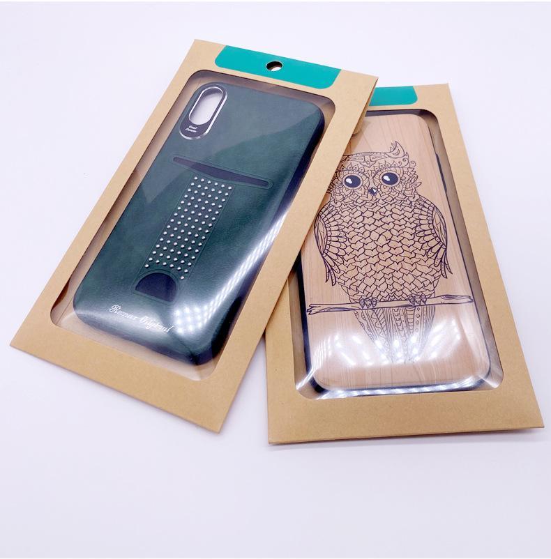 Universal-Einzelhandelsverpackung Kraftpapier-Tasche-Verpackung für iPhone 12 Pro max Telefon Fall Fit S20 Note20 Ultra-Zellen-Shell-Abdeckung AS300