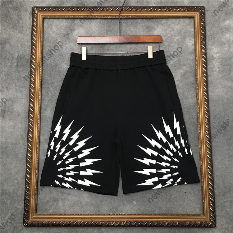 2021 pantalones cortos para hombre de verano pantalones de pantalones de diseño para hombres mujeres paris geometría impresión pantalones de moda cortos de algodón casual pantalones sólidos