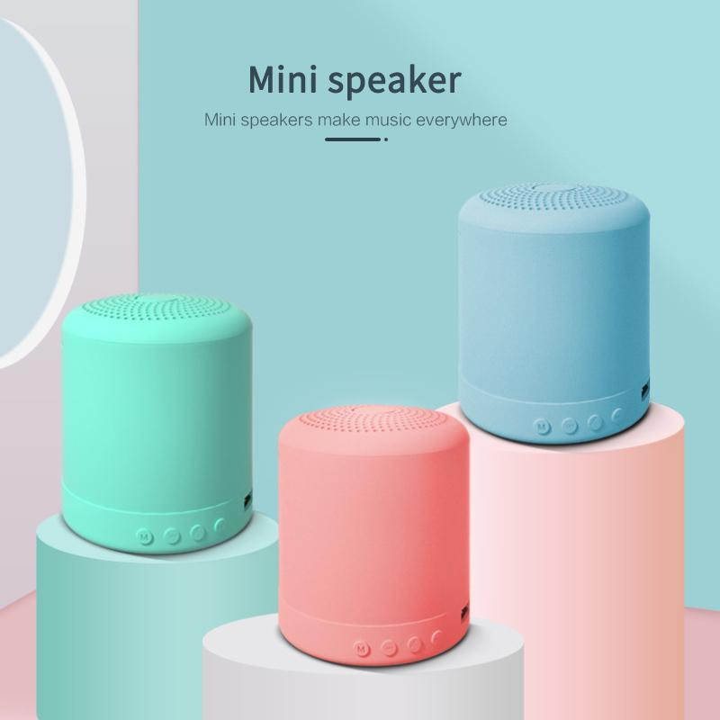 & MP4 Players A11 Mini TWS Bluetooth 4.0 Speaker 5W Waterproof Wireless Portable Column Outdoor 24H Play Time Voice Assistant Loudspeaker