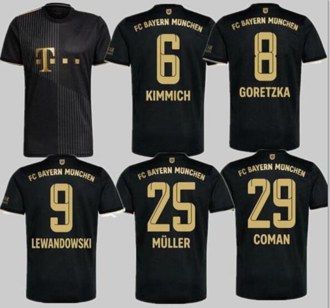 21 22 Bayern Soccer Jersey Lewandowski Sane Sain Munich Coman Muller Davies Chemise de football 2021 Humanrace quatrième 4ème