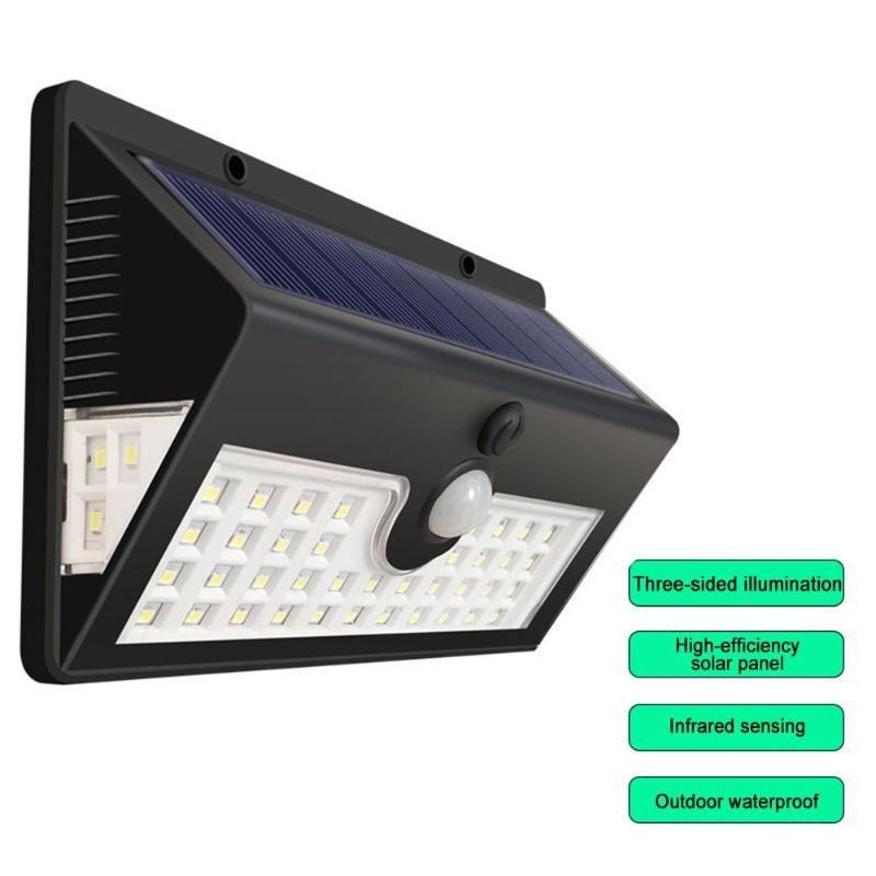 LED 태양 벽 램프 센서 빛 3면 조명 무선 방수 야외 정원 통로 거리 도로 밤 램프