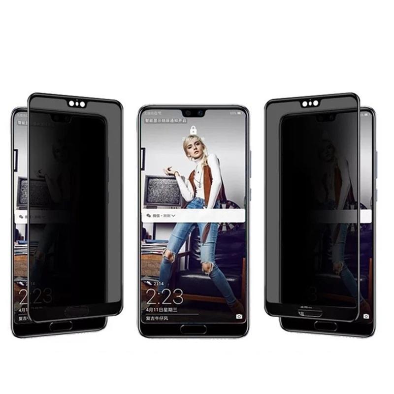 Privacy Anti-Spy Privacy Protezione in vetro temperato in vetro stampato per Huawei P40 Lite P50 Honor 30s 50 SE Y5P Y6P Y8P 100pcs / lotto Opper semplice