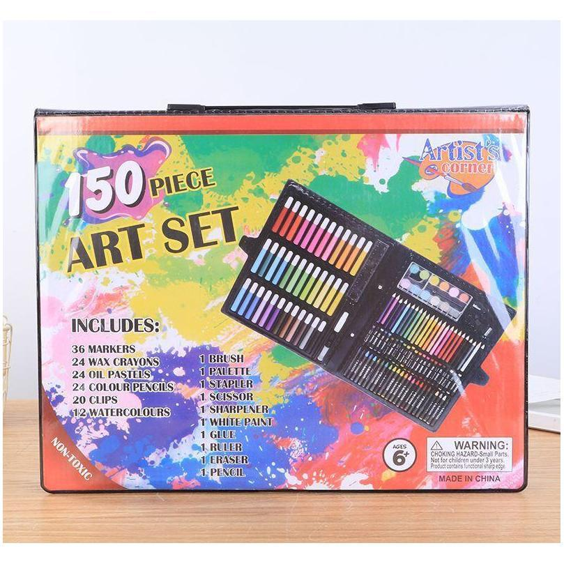 Supplies Office Business & Industrial Drop Delivery 2021 Kids Childrens Ding Pens 150 Sets Of Painting Watercolor Pen Art Brush Set Gift Box