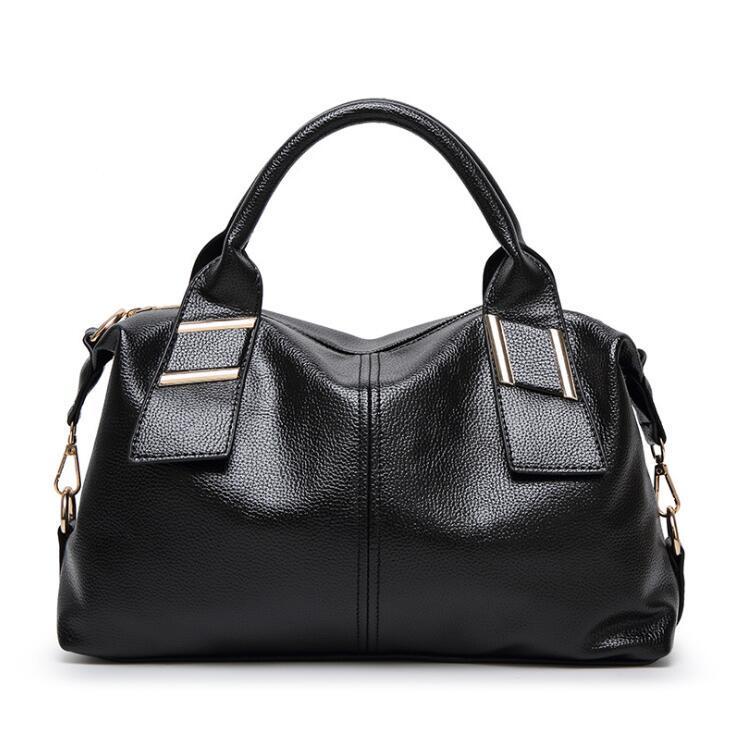 Yüksek kaliteli deri debriyaj çanta kadın lady büyük moda çanta büyük tote omuz çantaları