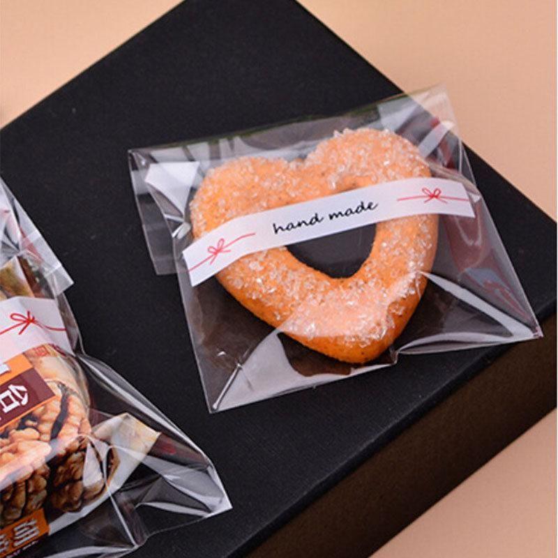 El yapımı Mini Dantel Yay Temizle Hediye Ambalaj Opp Torba Kendinden Yapışkanlı Çanta Moda Şeker Bisküvi Kurabiye Wrap