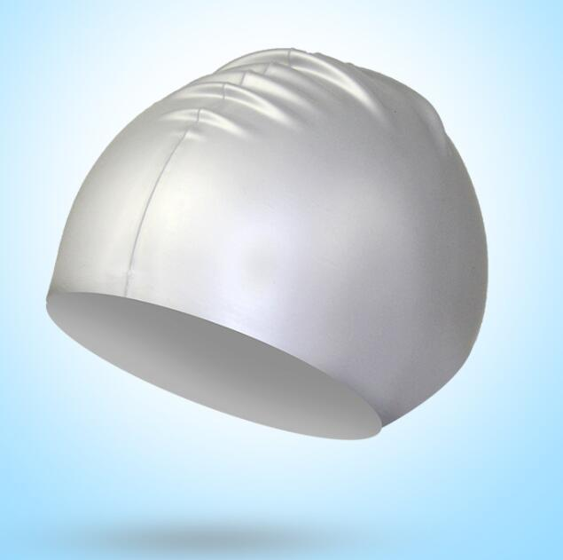 Gorros de natación sólida de silicona unisex para cabello largo, impermeable gorra de buceo, sombrero de natación profesional, mantenga pelos, agua seca, deportes, deportes de playa sombreros