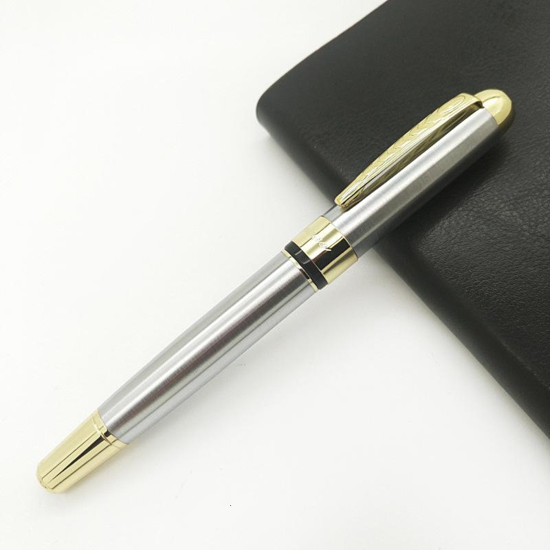 Genuine Steel Creative Pearl Stainless Men's Atmospheric Business Gift Practical Metal Signature Pen for Customers