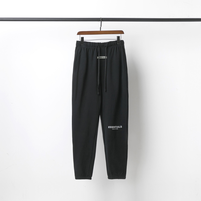 2021 Pantaloni da uomo 3M Lettera riflettente in cotone ricamato Pantaloni di spugna di cotone di alta qualità Bottoms