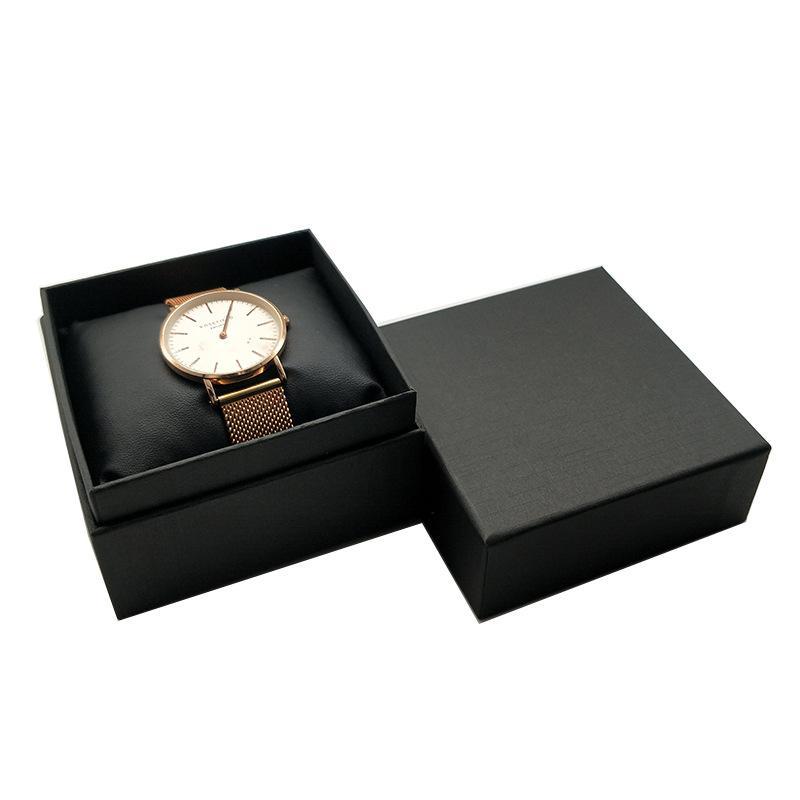 5pcs gioielli custodie di imballaggio casi di carta nera con cuscino di velluto nero cuscino cuscino orologio portaoggetti braccialetto organizer scatola regalo scatola di archiviazione 642 Q2