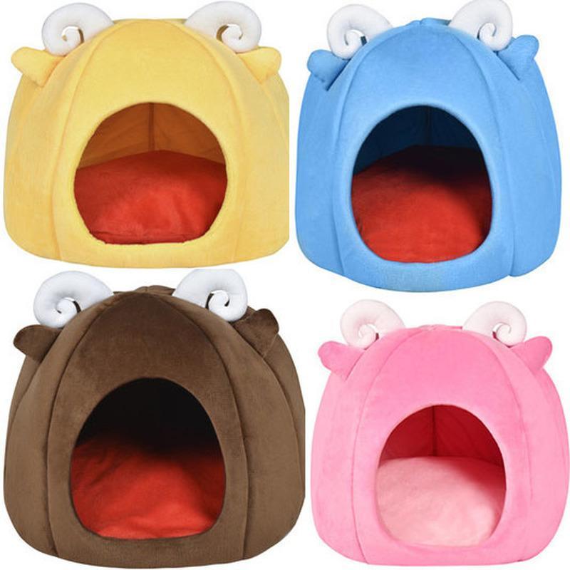 Kennels Bells Cat Nest House Cerrado Pliegue Villa Teddy Suministros para mascotas Yurt Kennel Cama para perros para perros pequeños Impermeable transpirable