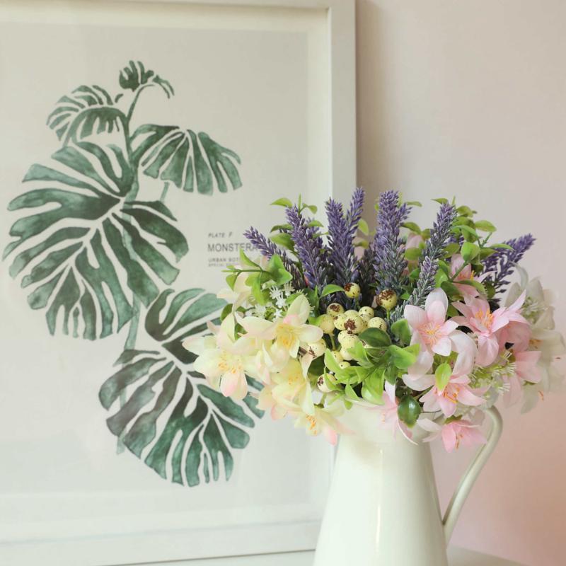 Pretty Chrysanthemum Artificial Silk Flowers Fake Plant Bouquet Home Wedding DIY Decorations Accessories Shooting Props Decorative & Wreaths