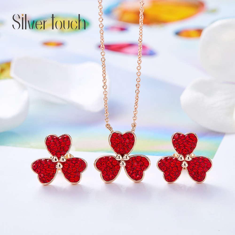 Siddell Love Muttertag Halskette mit Swarovski Kristallohrringen Set Frauen Ohrringe