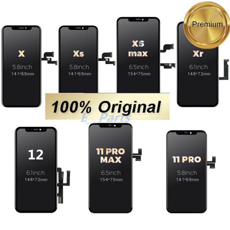 الأصلي OLED LCD الهاتف الخليوي اللمس لوحات ل فون x xs 11 XR 11Pro ماكس 12 برو عرض محول الأرقام الجمعية استبدال أجزاء من دي إتش إل