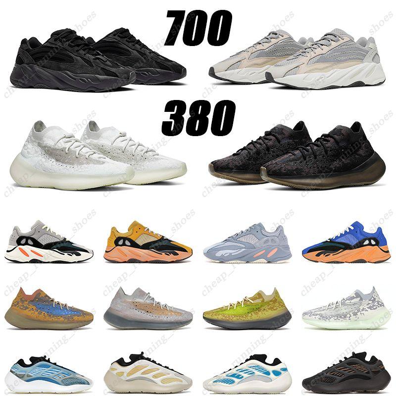 2021 adidas yeezy 700 Erkek Kadın Terlik Çöl Kum Dünya Kahverengi Kemik Reçine Köpük Koşucu Beyaz Slayt Pembe Siyah Terlik