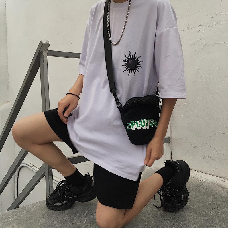 Moda Gevşek Rahat T Gömlek Yaz Açık Spor Yuvarlak Boyun Kısa Kollu Yüksek Kalite Gelgit Marka Basit Baskı Erkek Giyim