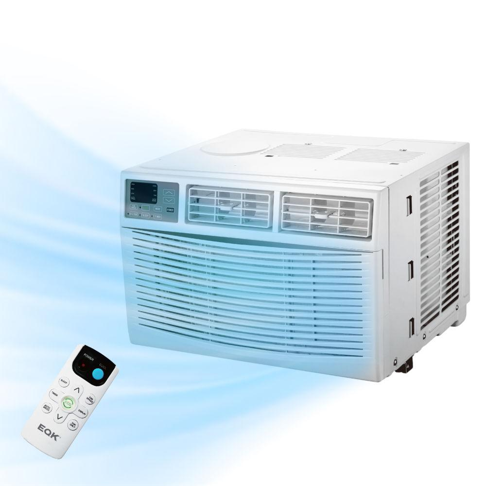 Window air conditioner 8000 BTU AC-Cooling, Dehumidifier, Fan with Remote Control, 3 Speeds, Auto/Eco/Sleep Mode, Energy Saving, 24-Hour Timer, Installation Easy