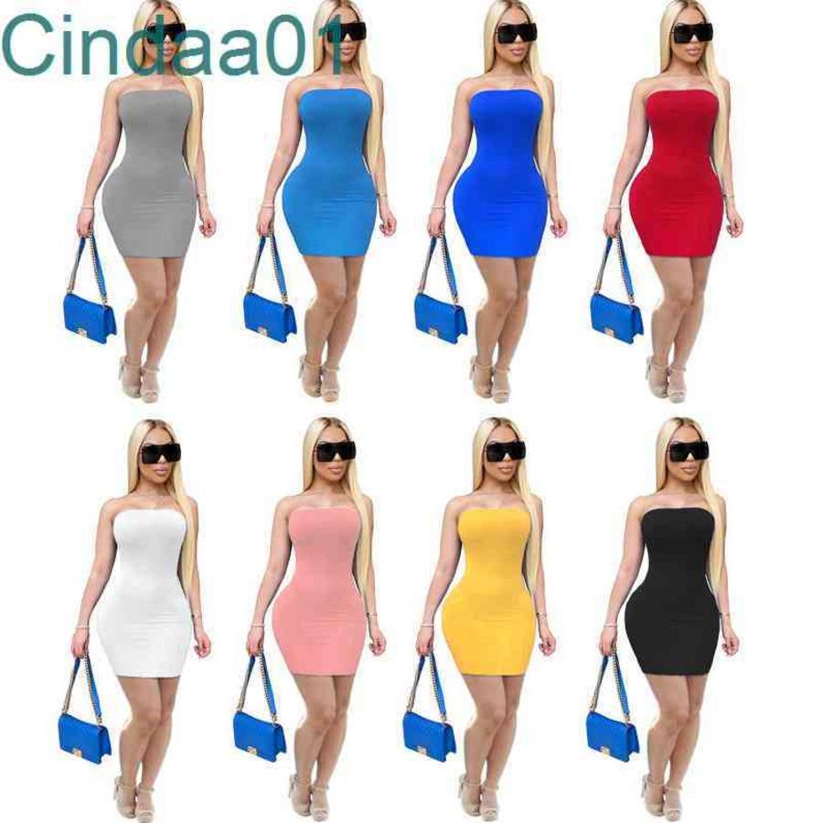 Kadın Elbise Tasarımcısı Ince Seksi Katı Renk Kapalı Omuz Yaz Kısa Etek Sıkı Yüksek Streç Elbiseler Kalça Etek 8 Renkler