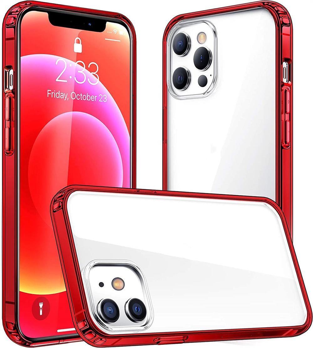 10 가지 색상 럭셔리 프레임 도금 아이폰 12 11 Pro Max Mini X XS 7 8 Plus SE 2020 투명 TPU 실리콘 커버