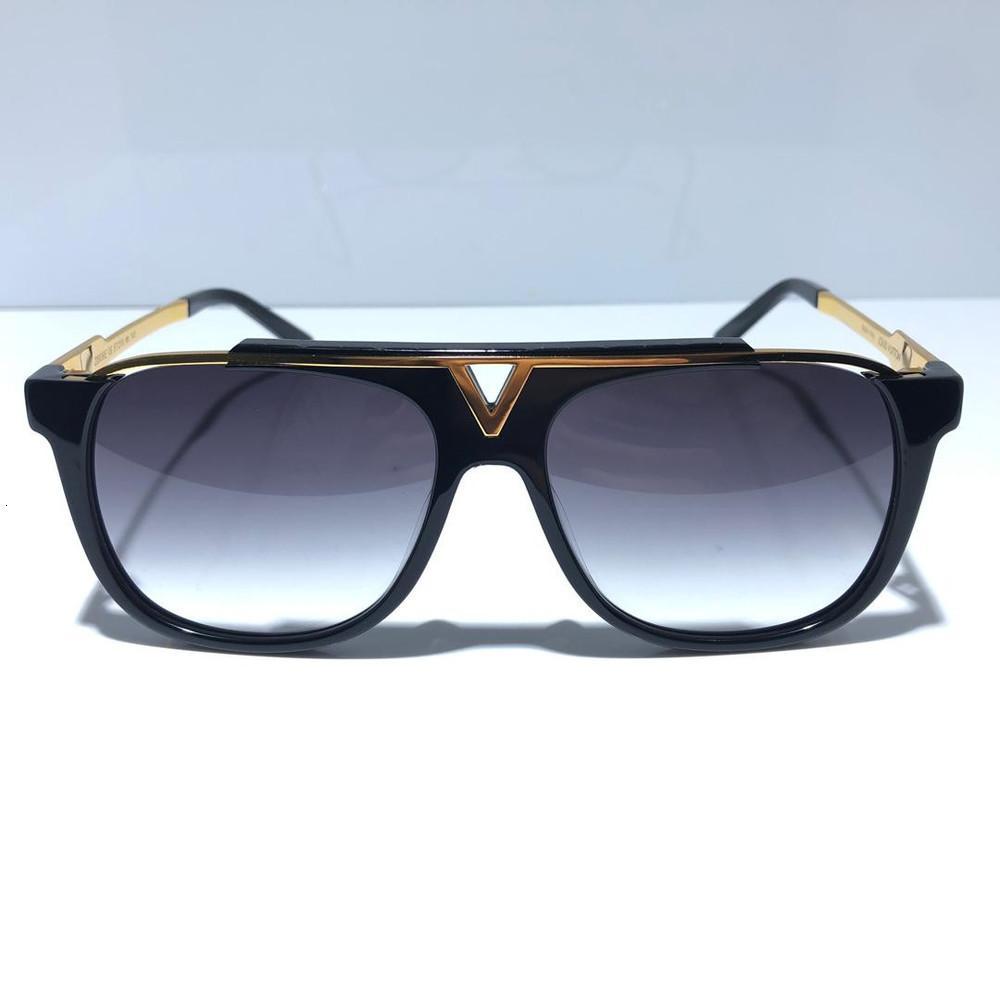 Maskottchen UV400 Klassische Sonnenbrille Retro Vintage Glänzende Gold Sommer Unisex Stil Eyewear Kommen Sie mit Kasten