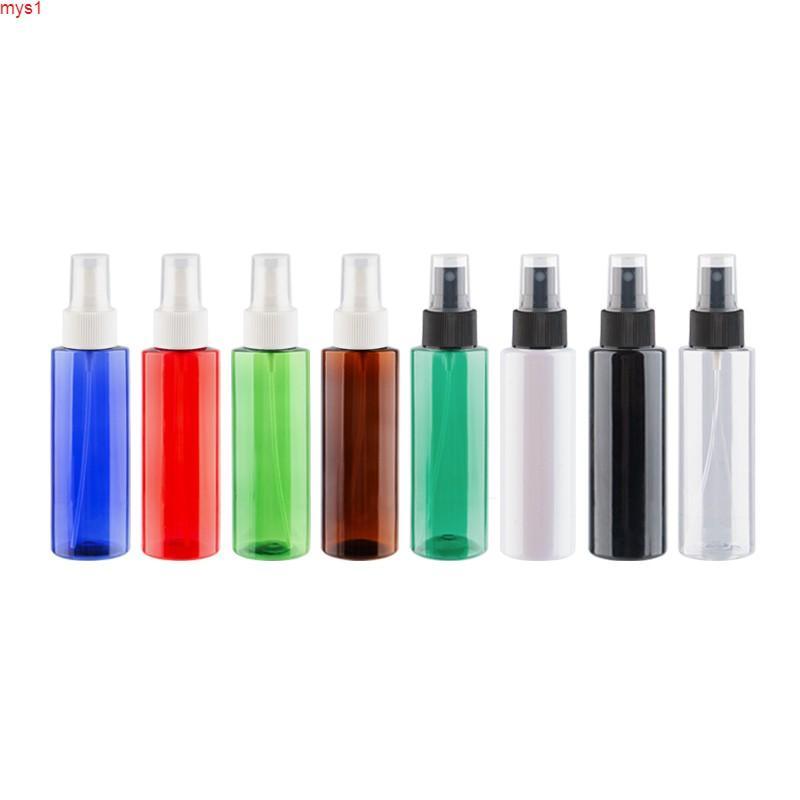 Venta al por mayor de 120 ml de la bomba de espray de plástico Botella de perfume recargable con blanco transparente pulverizador de niebla negro pulverizador de mascotasCán