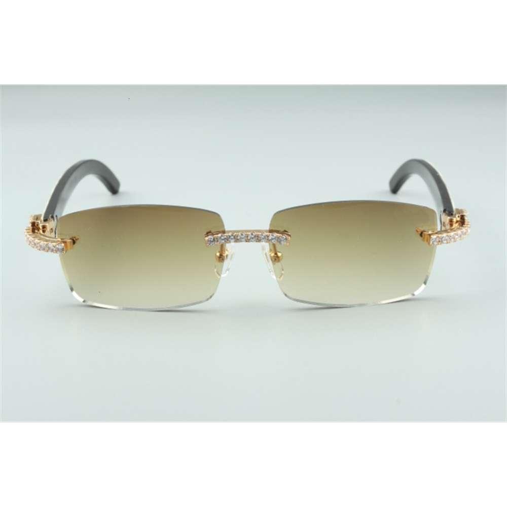 Die neuesten 3524012-13 endlosen Diamant-Sonnenbrillen, natürliche gemischte Hörner, für Männer und Frauen-Infinity-Gläser, Größe: 56-36-18-140mm