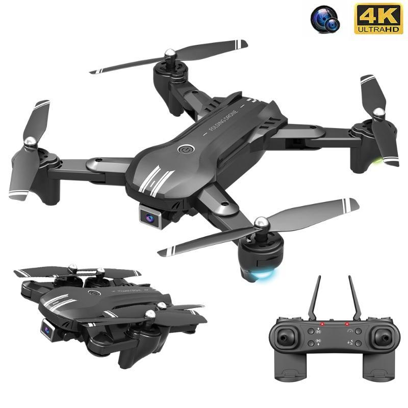 Mini Drones With LED Light 4K HD Dual Camera WIFI FPV Plane Professional Brushless Foldable RC Quadcopter Dron Toys