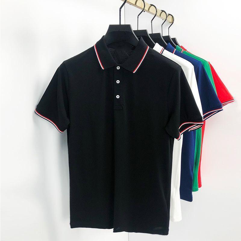 Tasarımcı Erkek Monclair Polo Gömlek Kadın Moda Nakış Mektubu İş Kısa Kollu Calssic Tshirt