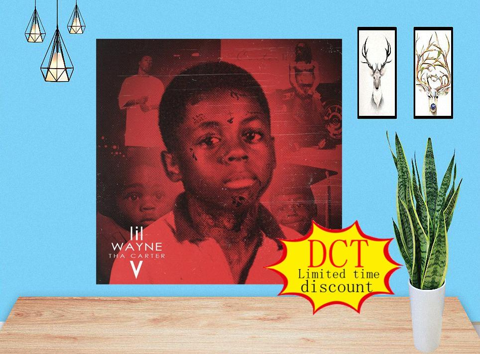 Lil Wayne Tha Carter V Álbum Cartel Cubierta Música Cubierta de Seda Imprimir