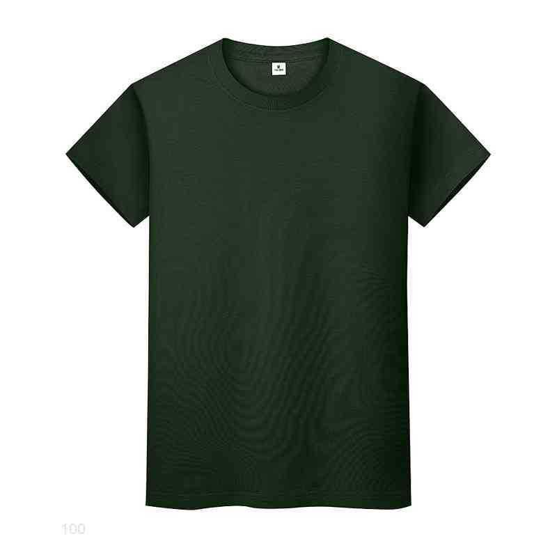 새로운 라운드 넥 솔리드 컬러 티셔츠 여름 코튼 바닥 셔츠 반팔 망 및 여성 반 소매 LJ8EIIOQ