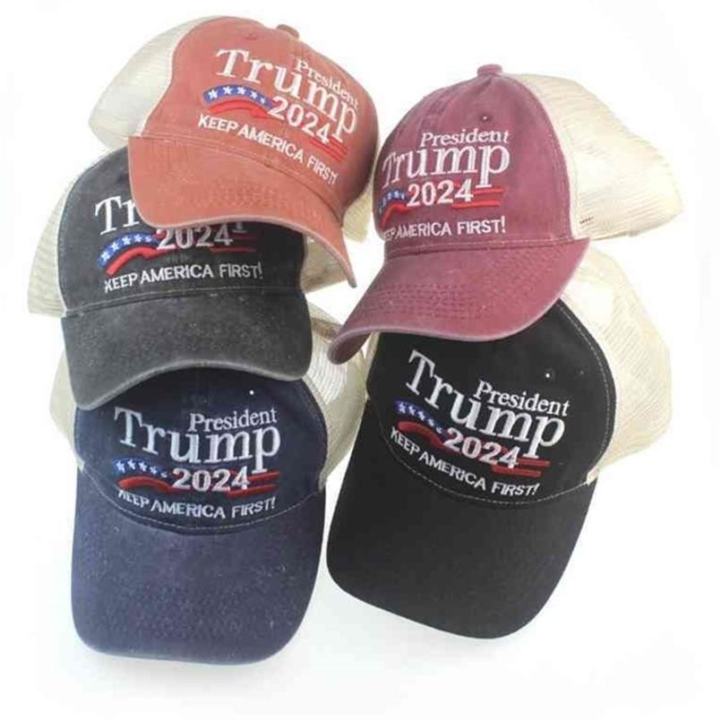 Beyzbol Kapaklar Trump 2024 Şapka Nakış Harfleri Baskı ABD Başkanlık Seçimi Trump Güneş Şapkaları Hip Hop Şapkalar Feudeed Cap G426SN5