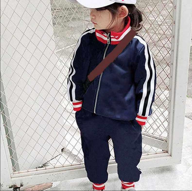 A1 Moda İlkbahar Sonbahar Bebek Çocuk Giyim Setleri Suit Erkek Kız Kıyafetler Set 2 adet Kıyafet Kapüşonlu + Pantolon Açık Spor