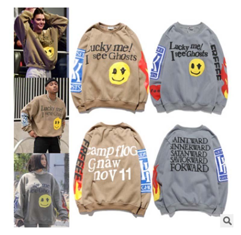 Kanye West Graffiti impresa con capucha de algodón suéter suéter jersey hombres sueltos mujeres servicio de domingo espíritu santo cpfm otoño 02