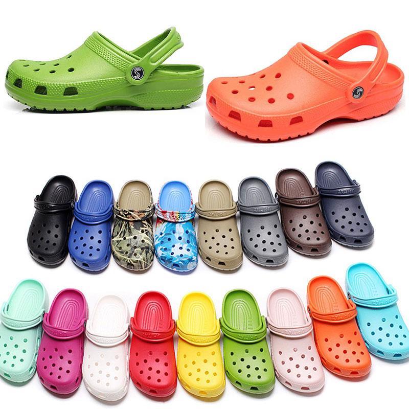 265 여자 패션 슬립 캐주얼 해변 나막단 방수 신발 남성 클래식 간호 Clog 병원 여성 슬리퍼 작업 의료 샌들