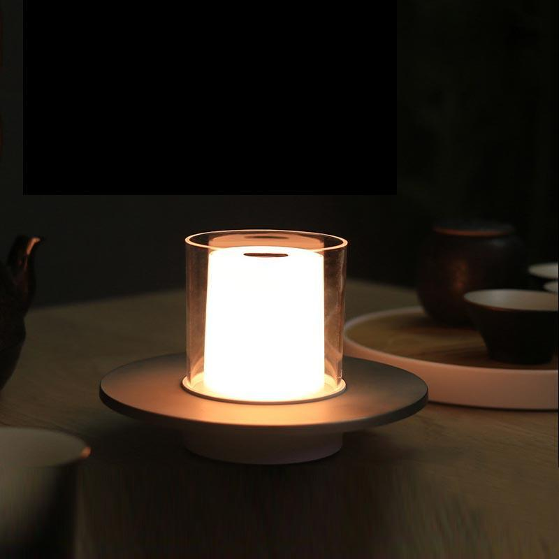 Настольные лампы Романтичные беспроводные Бесплатусные Светодиодные Свеча Свеча 2000 МАХ Аккумуляторная батарея 4 шага