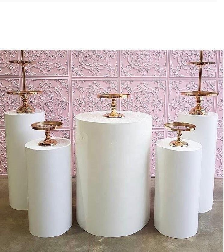 Pantalla de pedestal de cilindro redondo Decoración de arte Cake Rack Pilares Pilares para DIY Decoraciones de Boda Holiday 210310