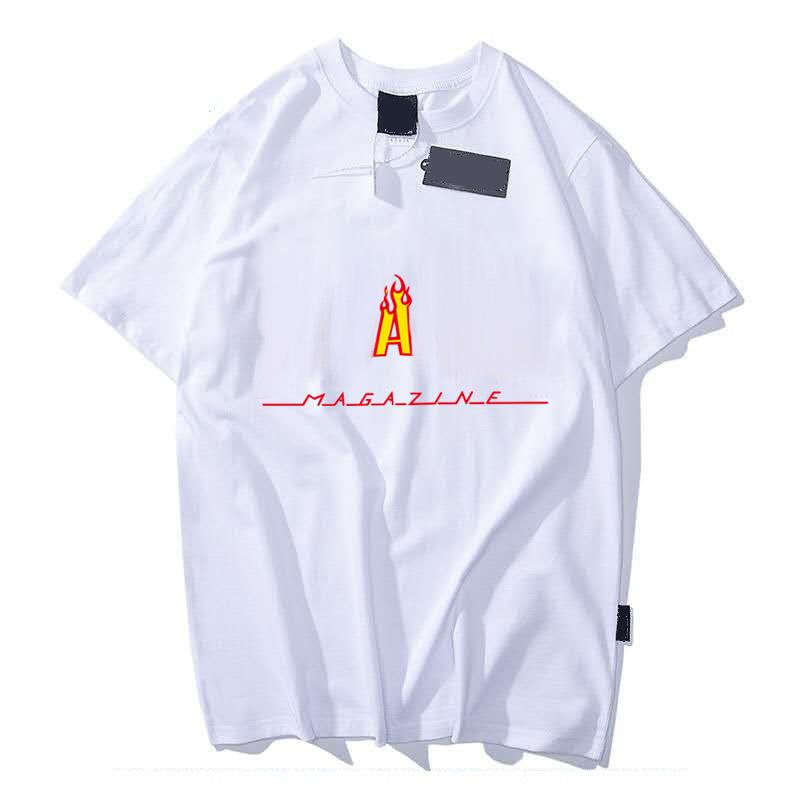 Homens Casual Camisa T Camisa Da Forma Adolescente Streetwear Flame Padrão 12 Styles Boy's Tops Verão Manga Curta Tees