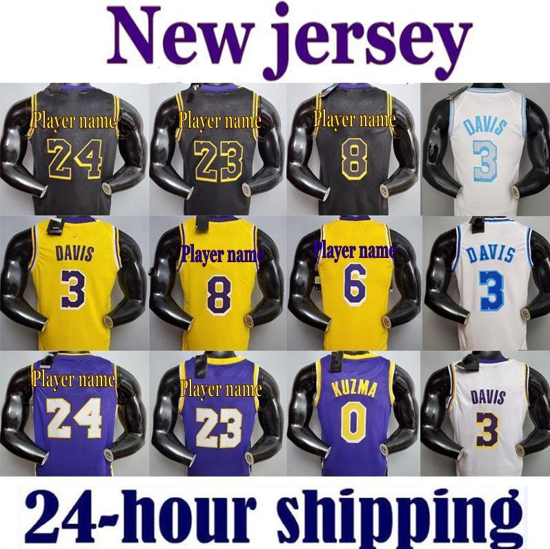 2021 LeBron James 23 Anthony Kyle Davis Kuzma Los Angeles Lakers Kobe 24 Bryant 8 Basketball Jersey Earvin Shaquille Johnson