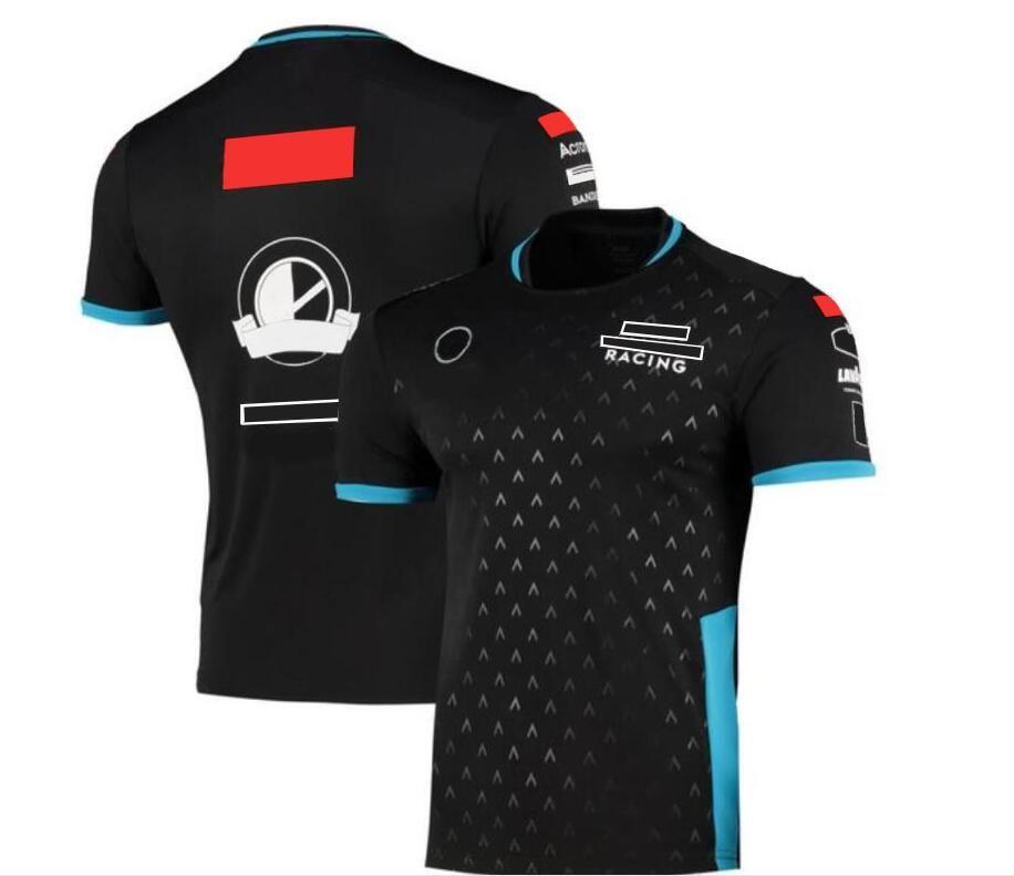 F1 Fans Series Equipo de carreras Uniforme Camiseta de verano Cuello redondo Cuello Cultural Star Camisa de manga corta Hombre Jersey
