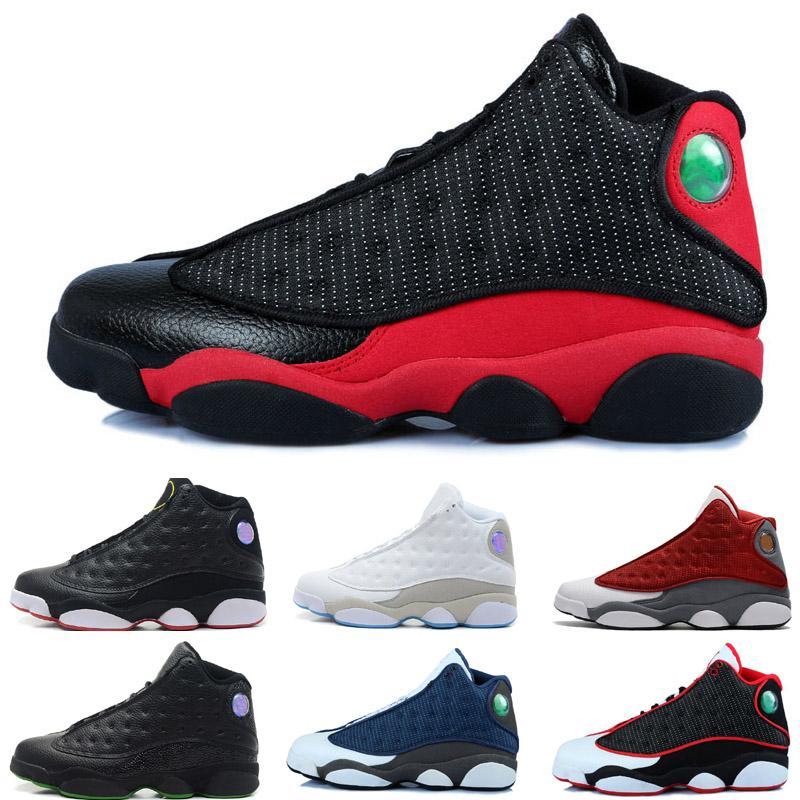 13 Mid Cut Men shoes de basquete botas de esportes masculino treinador sneaker preto tamanho vermelho 8-12